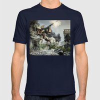Astray Shooting Mens Fitted Tee Navy SMALL