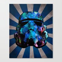 Star Wars StormTrooper (watercolor) Canvas Print