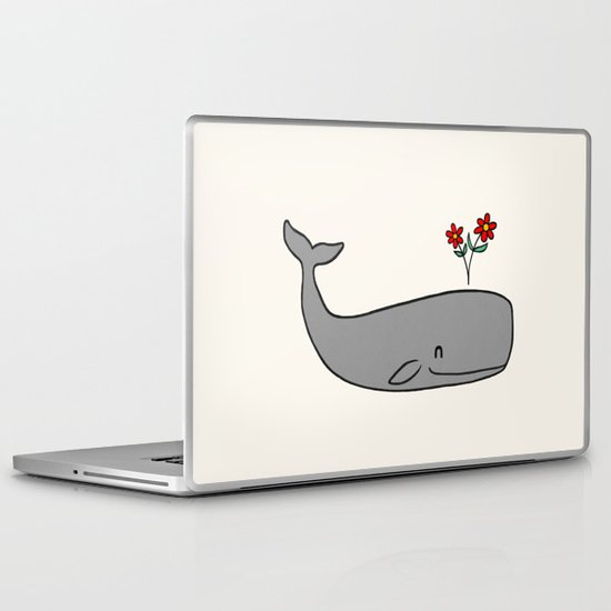Peace Whale  Laptop & iPad Skin
