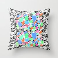 Pastel Blast Throw Pillow