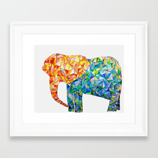 acute elephant Framed Art Print