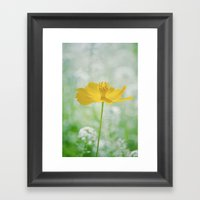 Yellow Bloom Framed Art Print