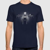 Dexter's Latest Catch Mens Fitted Tee Navy SMALL