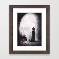 Death Claims the Godhead Framed Art Print