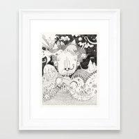 A Beautiful Mind (B&W) Framed Art Print