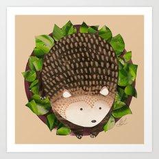 Paper Hedgehog Art Print