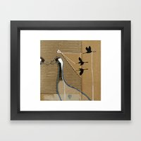 cranes Framed Art Print