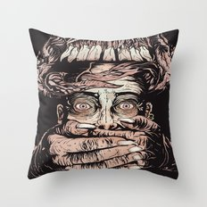 Demon Hands Throw Pillow