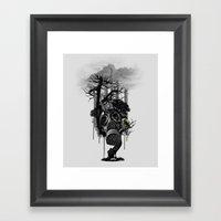 DIRTY WEATHER Framed Art Print