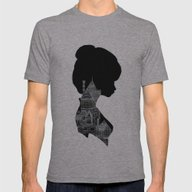 Little Houses Silhouette Mens Fitted Tee Athletic Grey SMALL