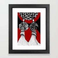 African Framed Art Print