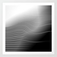 Metal. Wave. Art Print