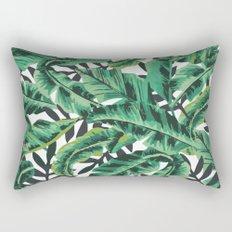 Tropical Glam Banana Leaf Print Rectangular Pillow