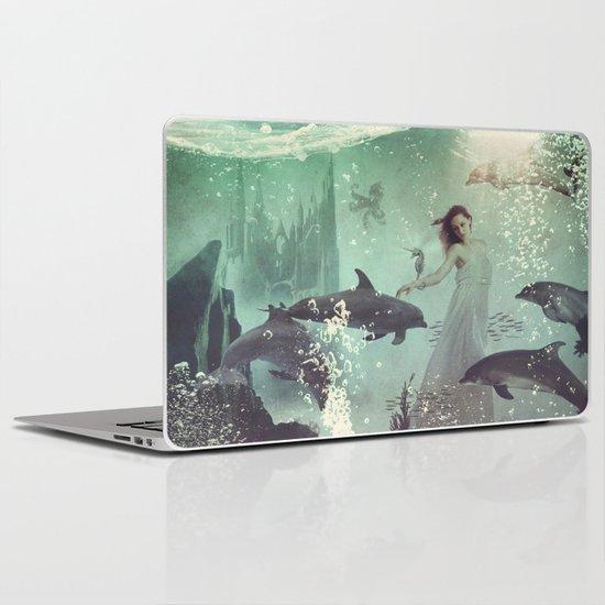 The Sea Unicorn Lady Laptop & iPad Skin