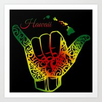 hawaii Art Prints featuring Hawaii by Lonica Photography & Poly Designs