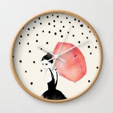 Polka Rain Wall Clock