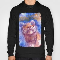 Waiting for the stars (tiger, big cat, cat, kitty, kitten, gato, chat) Hoody