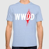 What Would Dexter Do? Mens Fitted Tee Tri-Blue SMALL