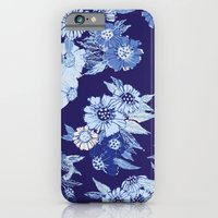 Floral pattern in Indigo iPhone 6 Slim Case