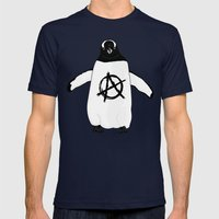 Anarchy In The Antarctic Mens Fitted Tee Navy SMALL