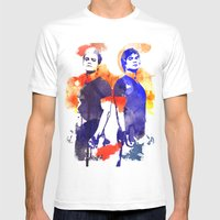 The Salvatore Brothers Mens Fitted Tee White SMALL