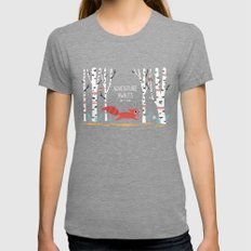 Adventure Awaits Womens Fitted Tee Tri-Grey SMALL