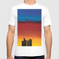 City Morning Mens Fitted Tee White SMALL