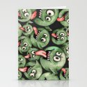 Green Graffiti Creatures Stationery Cards
