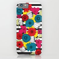 Flowers and Stripes iPhone 6 Slim Case