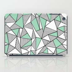 Abstraction Lines with Mint Blocks iPad Case