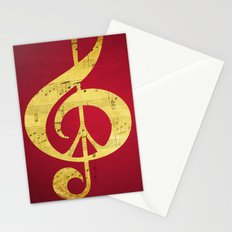 Music & Peace Sheet Music Stationery Cards