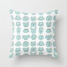 animal cuteness Throw Pillow