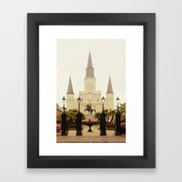New Orleans Looking Thro… Framed Art Print