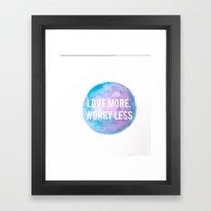 Worry Less Framed Art Print