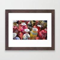 Chinese Pots Framed Art Print