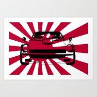 240Z - Rising Sun Art Print