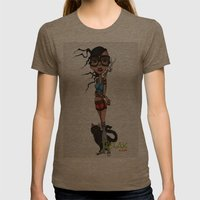 Relax Womens Fitted Tee Tri-Coffee SMALL