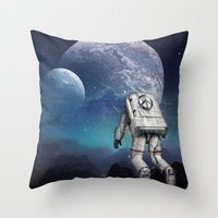 Searching Home Throw Pillow