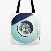 Blue Cirlce Tote Bag