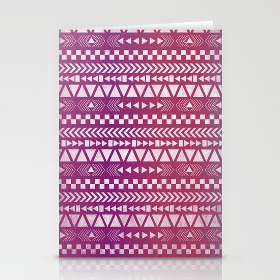 Tribal Pattern Stationery Card