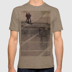 v1bsyn Mens Fitted Tee Tri-Coffee SMALL