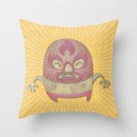 Death Luchador Throw Pillow