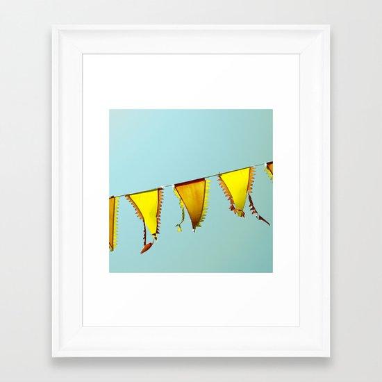 Flag Line Framed Art Print