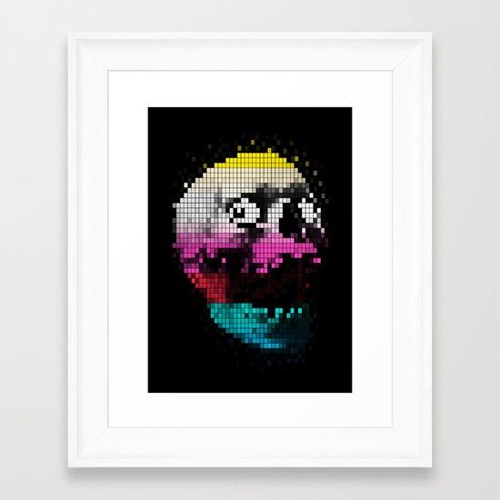 PIXEL SKULLY Framed Art Print
