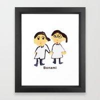 Bon ami !! Framed Art Print