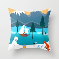 River Island Throw Pillow