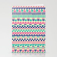 Hearts Stationery Cards