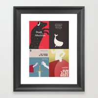 Famous Book Covers & Pos… Framed Art Print