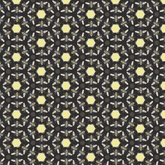 Beneficial Bumblebees and Hexagonal Honeycombs Art Print