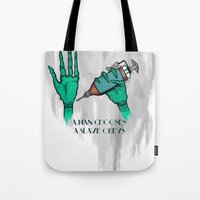 A Man Chooses A Slave Obeys (strongly recommend buying in white) Tote Bag